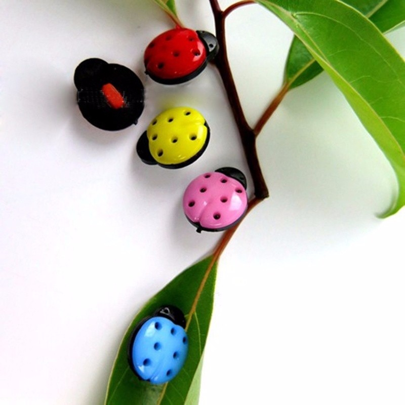 100Pcs/Pack Sewing Button Ladybug Mixed One Hole Children Cartoon Cute Buttton Candy Color Small Kids Cloth Buttons P20 ...