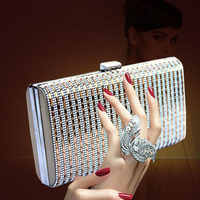 LJT 2019 High-end Diamonds Luxury Handbag Women Bags Designer Lady Banquet Clutches Lady Wedding Purse Crossbody Shoulder Bag