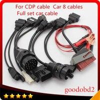Автомобильный Кабель OBD2 полный автомобиль 8 кабели работают для TCS CDP Pro Plus DS150, ничего себе, vd600, multidiag Pro сканирования инструмент диагностики И...