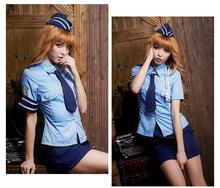 Police Party Costume Sexy Female Uniform Ladies Cosplay Cop One Set