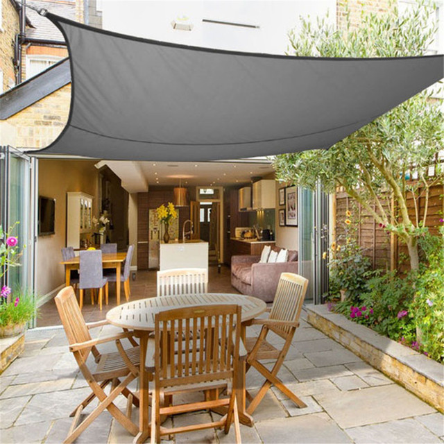 Pe Sun Shade Sail Garden Canopy Awning Screen 3m X 2m Waterproof 98 Uv Block
