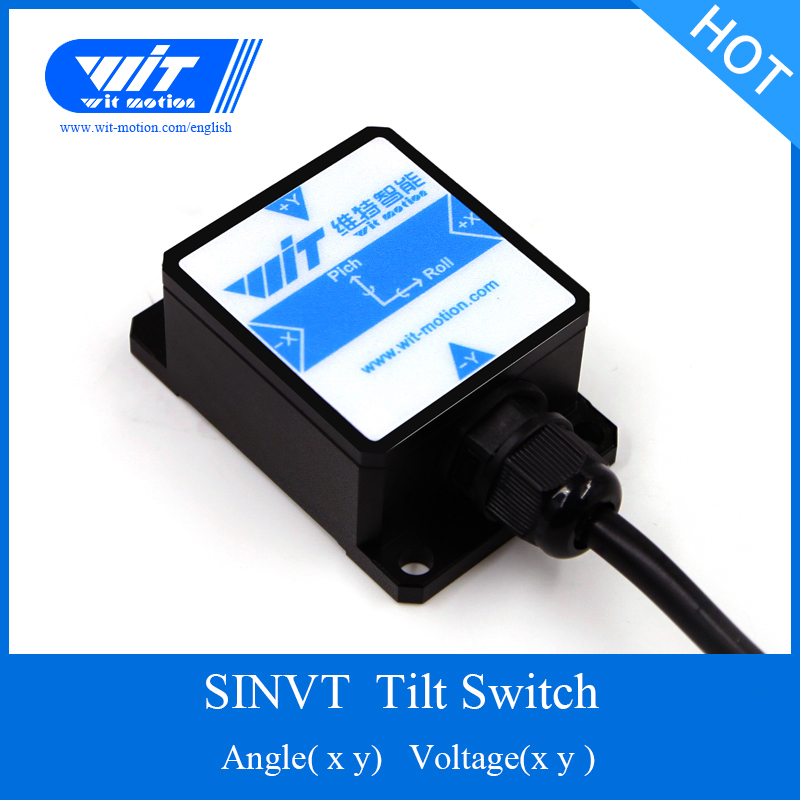 Dashing Witmotion Sinvt Dual-axis High Accuracy Voltage Output Digital Tilt Angle Ahrs Inclinometer, Ip67 Waterproof, Anti-vibration