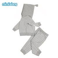 Autumn Newborn Baby Outfits Winter Outwear Infant Boys Knit Tracksuits Cotton Crochet Toddler Girls Sport Suit Hoodies Pants Set