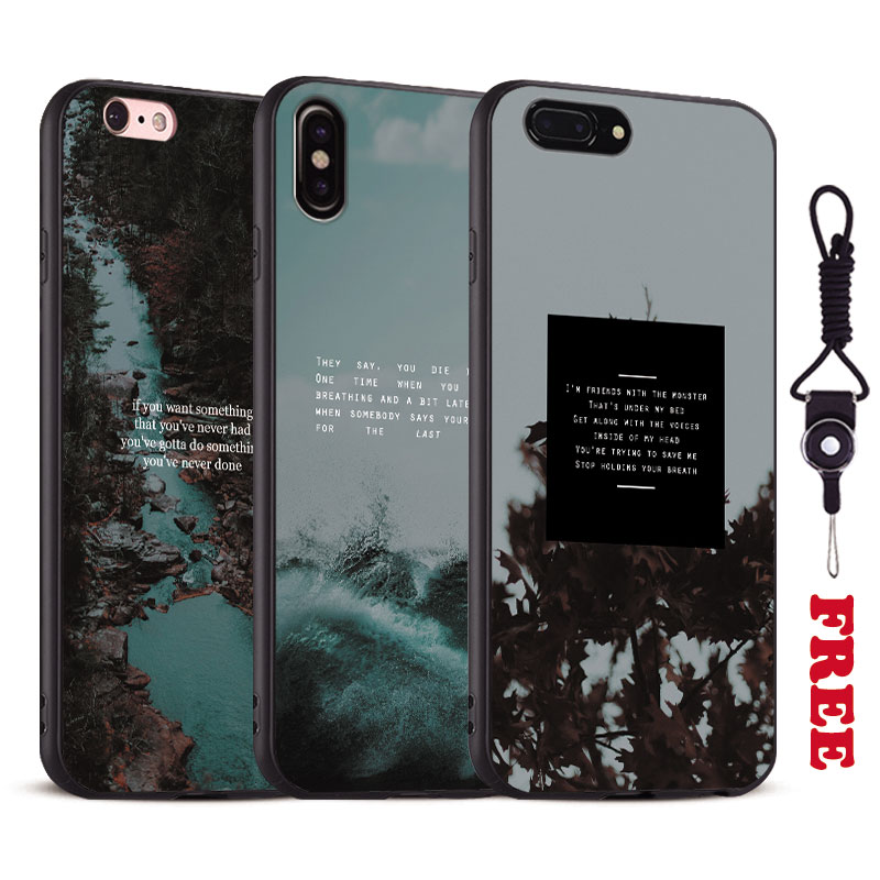 Nature sea song lyrics quotes Coque Tpu Soft Silicone Phone Case Cover Shell For Apple iPhone 5 5S Se 6 6S 7 8 Plus X 10