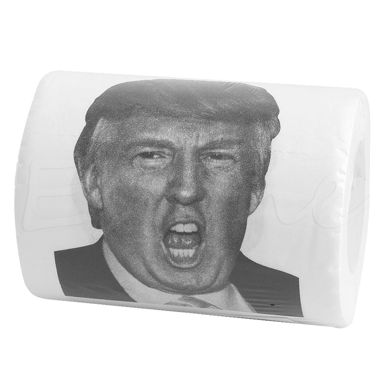 Kind-Hearted Donald Trump Humour Toilet Paper Roll Novelty Funny Gag Gift Dump With Trump Home Improvement