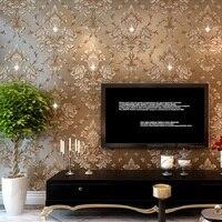 10M Hot Selling 3D Diamond Wallpaper Modern Damask Wall Paper Home Decoration Wallpapers Papel De Parede