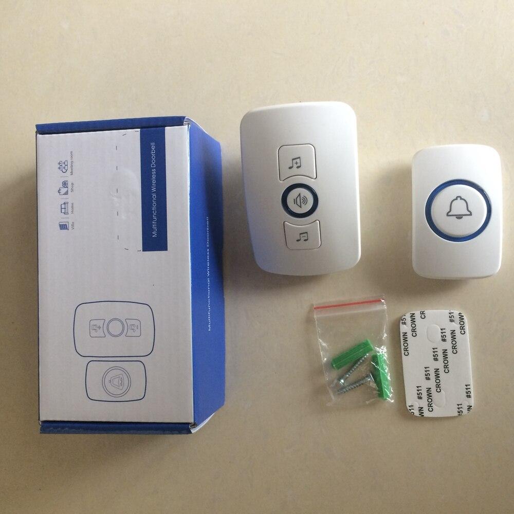 Wireless Security Alarm Button Door Bell Loud Sound