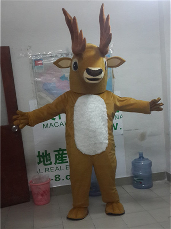 Moose Deer Mascot Reindeer Mascot Costume Fancy Dress Carnival Costume Christmas Cosplay for Halloween Party Event