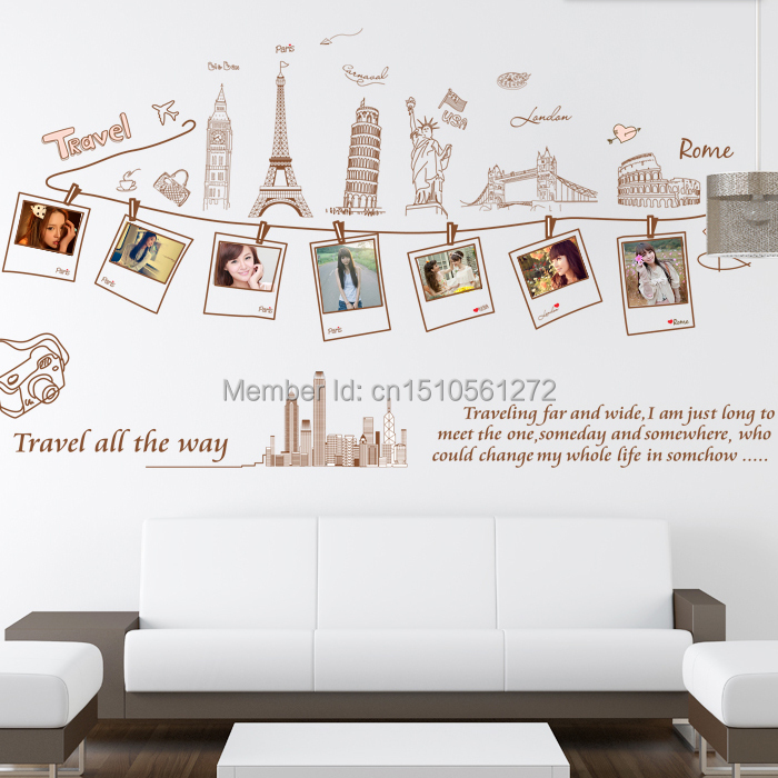 Cartoon torre eiffel stickers world map urban decal london famous cartoon torre eiffel stickers world map urban decal london famous building wall stickers photo decorative decals free shipping in wall stickers from home gumiabroncs Image collections