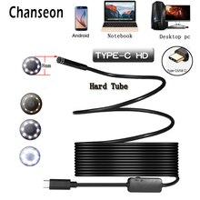 Chanseon 8/5. 5 мм USB эндоскопа камера TYPE-C hd-эндоскоп инспекции жесткий Трубки ПК Android для Huawei телефоны бороскоп