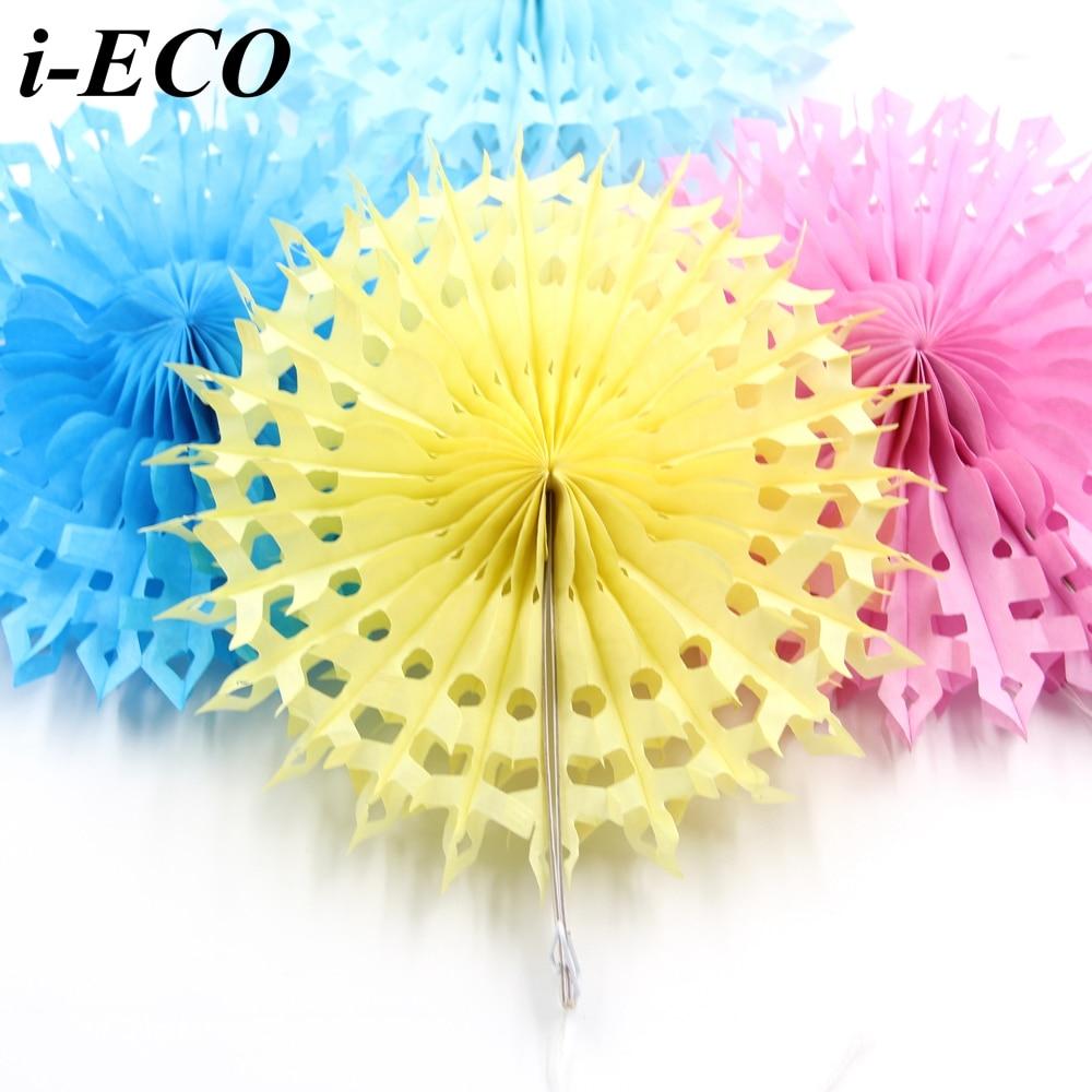 "New 5pcs Tissue Paper Fan Diy Crafts Hanging Wedding: Aliexpress.com : Buy 5PCS 8""DIY Tissue Paper Flowers"