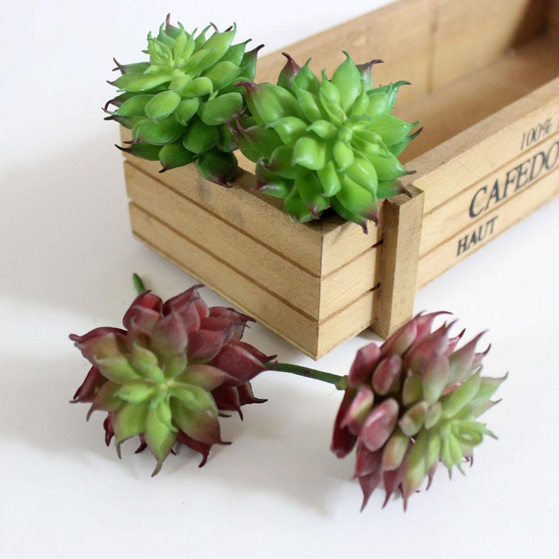 Home Decoration Accessories Miniature Artificial Succulent Plants Grass Plant Landscape Fake Flower Arrangement Garden Decor