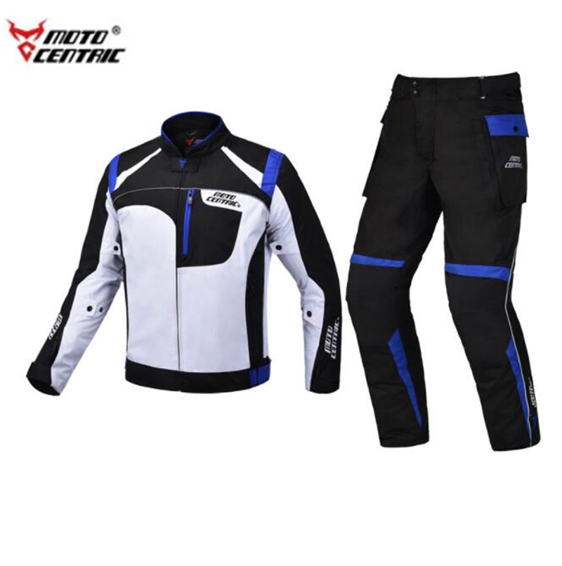 MOTOCENTRIC Motorcycle Jacket +Motorcycle Pants Waterproof Moto Riding Racing Motorbike Suit Remove linner