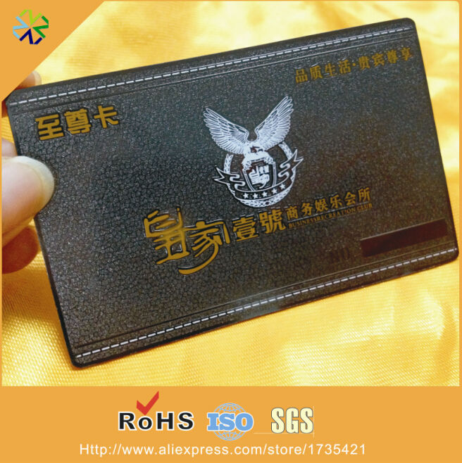 0.3mm thickness stainless steel material black plated steel card black metal business card printing