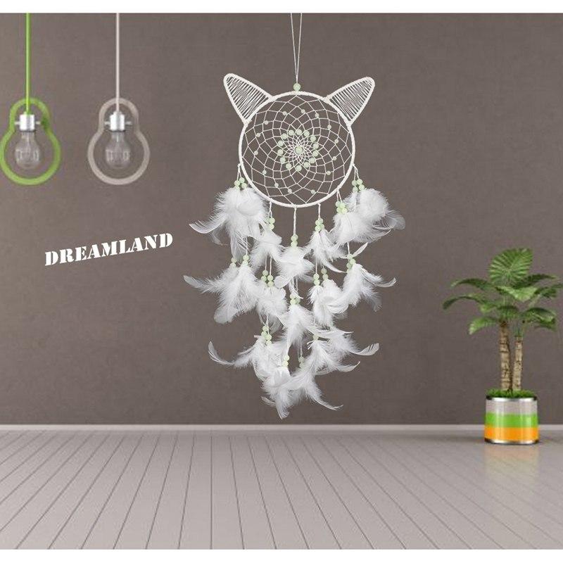 100% QualitäT Weiße Katze Stil Traum Catcher Hochzeit Party Startseite Wandbehang Dekoration Handwerk Kann Glühte In Dunkelheit Schöne Traum Catcher Und Ein Langes Leben Haben.