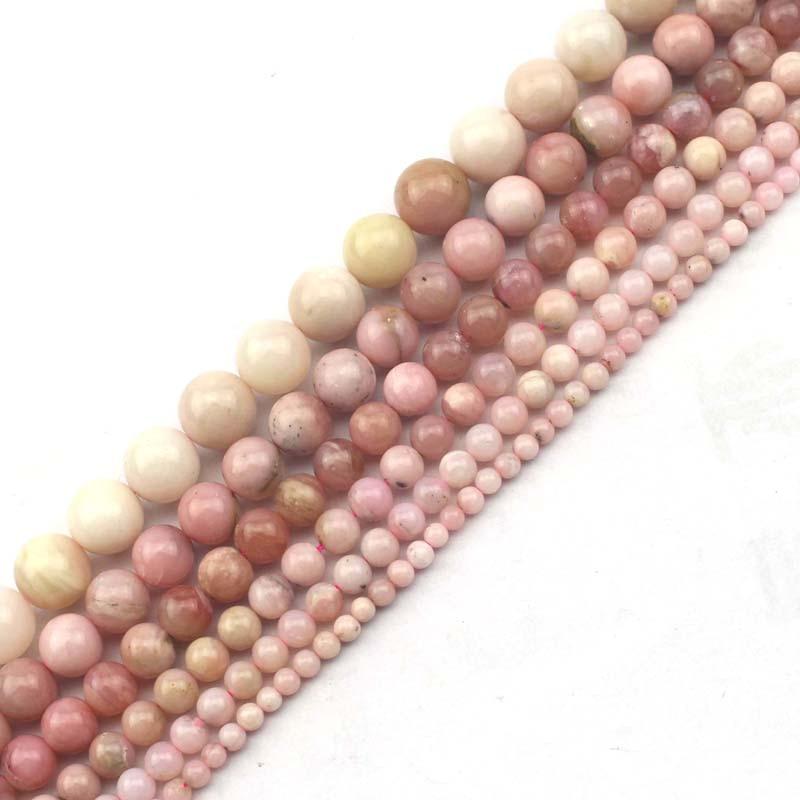 Opal Round Beads 6mm Pink 60 Pcs Gemstones DIY Jewellery Making Crafts