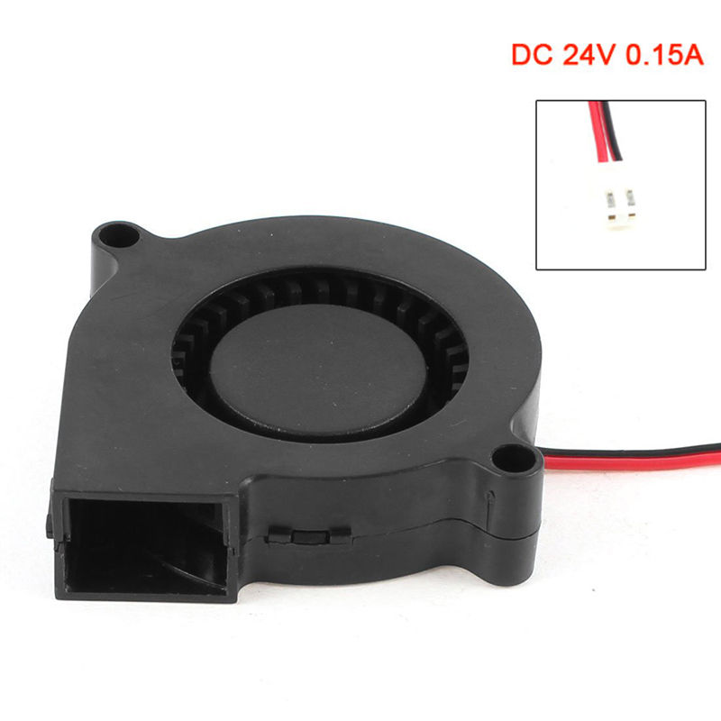 2 Pin Connector Brushless DC 24V 0.15A Turbo Blower Cooling Fan 50mm x 50mm x 15mm EM88 free shipping for sunon kde2406phs2 dc 24v 1 9w 2 wire 2 pin connector 60x60x15mm server square cooling fan