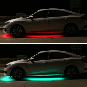 Image 5 - 12 فولت الجزء السفلي من السيارة LED أضواء تحت توهج مرنة قطاع أضواء RGB جو الزخرفية تحت مصباح هيكل السيارة هيكل السيارة نظام ضوء