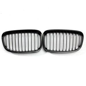 Image 2 - Grade para frente do capuz de carro, 2 peças, brilhoso, preto, grade de corrida, para bmw f20 f21 1 series 2011 2012 2013 2014 estilo do carro