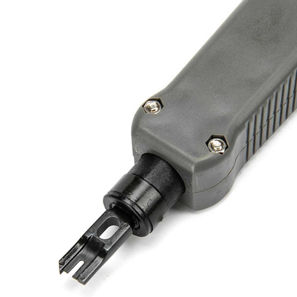 1 個ネットワーク RJ45 RJ11 ケーブルワイヤーカットインパクトパンチダウンツールインパクトパンチダウン挿入カットケーブル