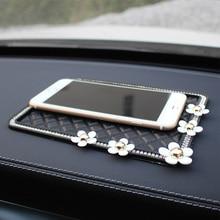 Car Interior Anti Slip Mat PVC with Flowers Non-Slip Pading Dash Board Phone Glasses Perfume Pad Storage Universal Size Holder