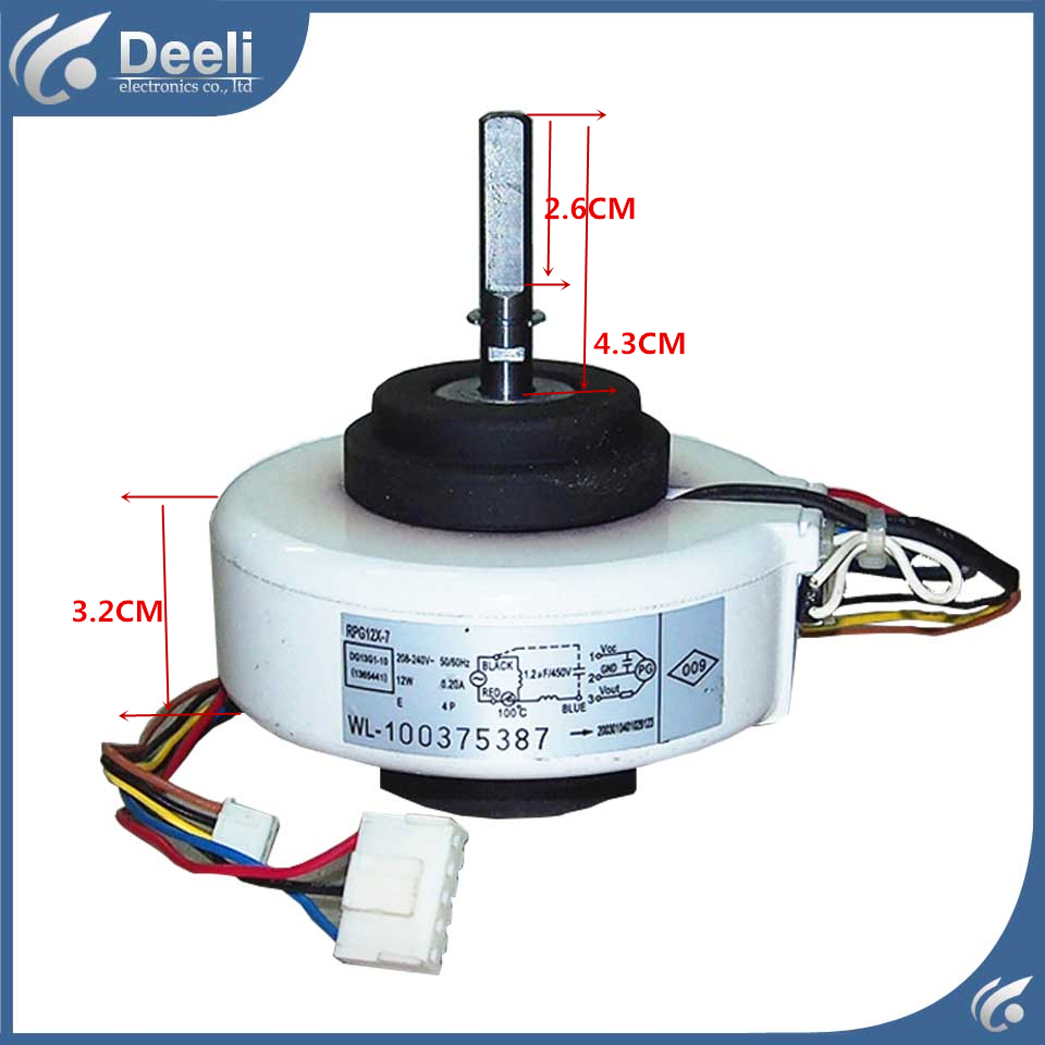 new good working for TCL Air conditioner inner machine motor RPG12X-7 Motor fan ups ems dhl 95% new good working for air conditioner inner machine motor fan ydk50 8g 3 7 line