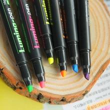 48 pcs/Lot Lumina marker pen Color highlighter Fluorescent spot liner drawing Stationery Office accessories School supply FB718