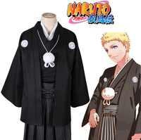 Anime Naruto Cos Uzumaki Naruto Halloween Cosplay Schwarz hochzeit kimono Mann Frau Cosplay Kostüm