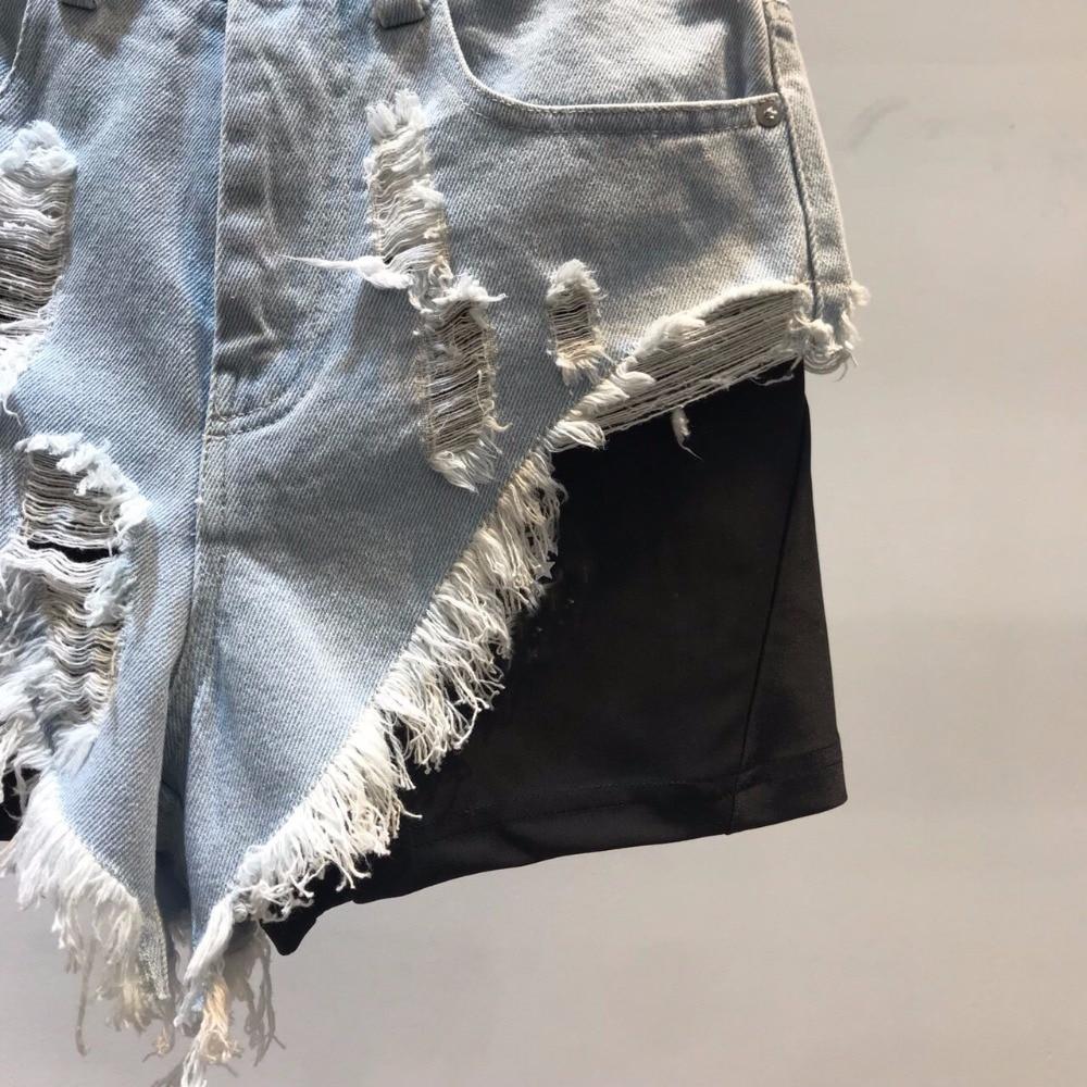 Printemps Nouveau Shorts Ddxgz3 Patchwork Femmes Denim 2019 5dFwx