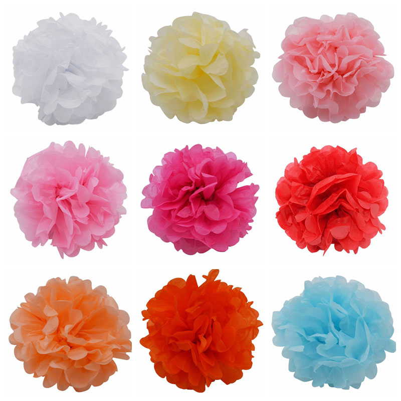 1pcs 15cm tissue paper flower ball diy handmade paper flowers pom 1pcs 15cm tissue paper flower ball diy handmade paper flowers pom poms balls lanterns party decor for wedding decoration 85z mightylinksfo