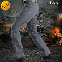 Outdoors ESDY Mens Slim Tactical Tool Commander Soldiers Cargo Pants Men Multi-pocket Rangers WaterProof Military Biker Trousers