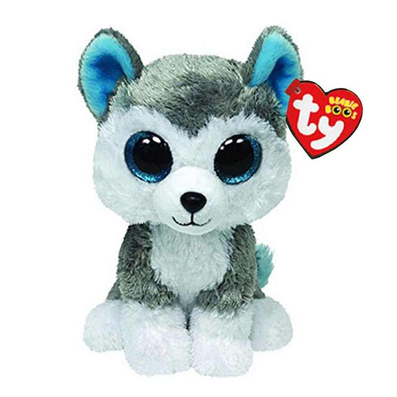 Ty Beanie Boos Stuffed   Plush Animals Husky Dog Toy Doll With Tag 6