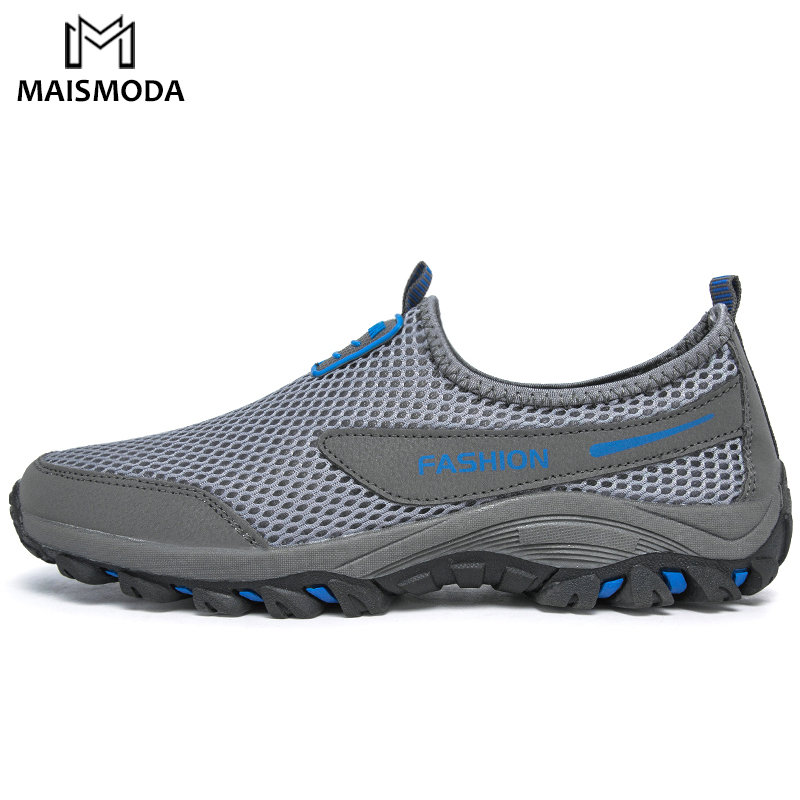 MAISMODA Men's Hiking Shoes Outdoor Sports Couple Mesh Comfortable Breathable