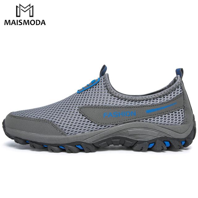 MAISMODA Men's Hiking Shoes Outdoor Sports Couple Mesh Comfortable Breathable Soft Sport Mountaineer Sandals Trekking Shoes