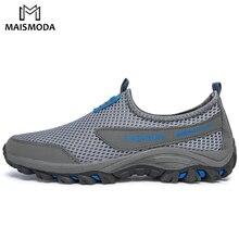 MAISMODA Men's Hiking Shoes Outdoor Sports Couple Mesh Comfo