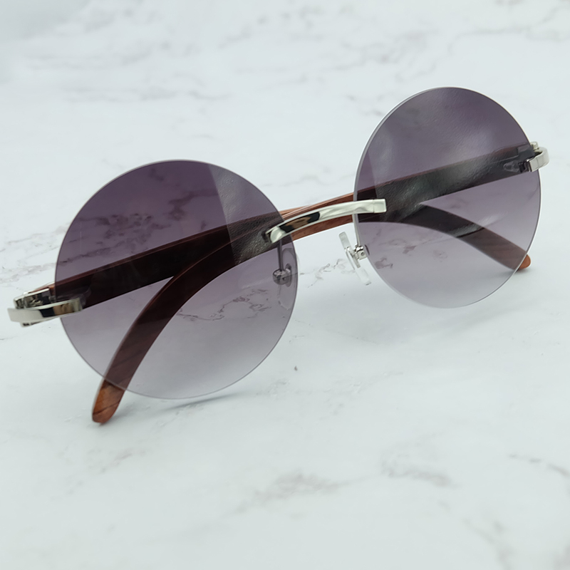 Wood Veins Round Sunglasses Men And Women Luxury Designer Wholesale Carter Sun Glass Decoration Shade Eyewear With Accessories