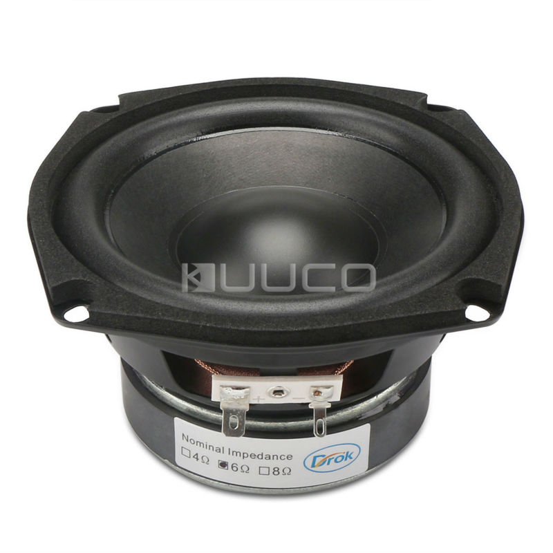 Subwoofer Shocking Bass unit 4.5-inch 6 ohms Hi-Fi Audio Speaker 40W Stereo Loudspeaker Woofer Speaker for DIY speakers audio loudspeaker 40w woofer speaker double magnetic speaker 4 5 inch 4 ohms subwoofer bass speaker for diy speakers