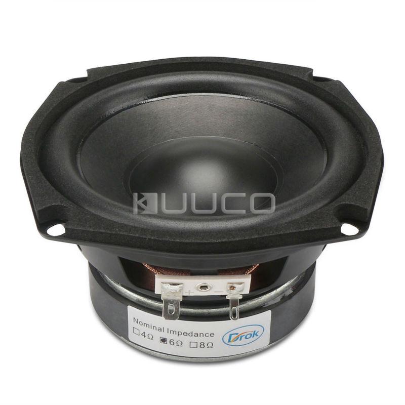 Subwoofer Shocking Bass unit 4.5-inch 6 ohms Hi-Fi Audio Speaker 40W Stereo Loudspeaker Woofer Speaker for DIY speakers