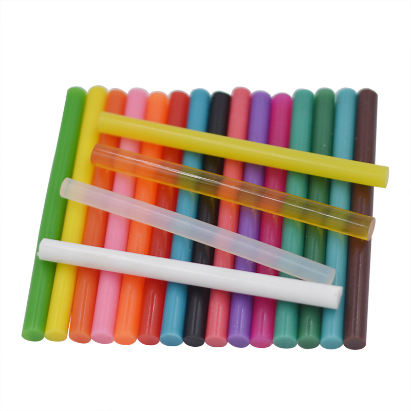 DIY 10pcs 7 *100mm Clear Colorful Hot Melt Glue Sticks Vintage Sealing Wax EnvelCraft  Album Repair Tools For Alloy Accessories