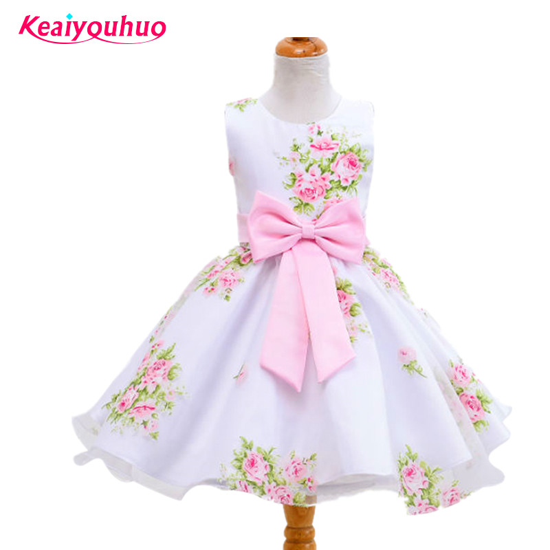 Summer Flower Girl Party Dresses 2017 Baby Children Clothes for age 2-4-6-7-8-9-10 years Princess Costume Vestido Kids Clothing teenage girl dresses summer 2018 children s clothing kids flower dress chiffon princess dresses for age 7 8 9 10 11 12 years