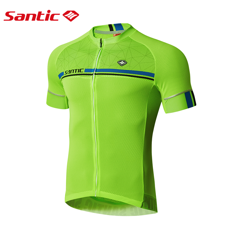 Santic Men Cycling Short Jersey Cycling Shirts Short Sleeve 4 Color Pro Fit Antislip Sleeve Cuff Road Bike Clothes M7C02107V topcycling sad209 outdoor cycling men s short jersey clothes black white size xl