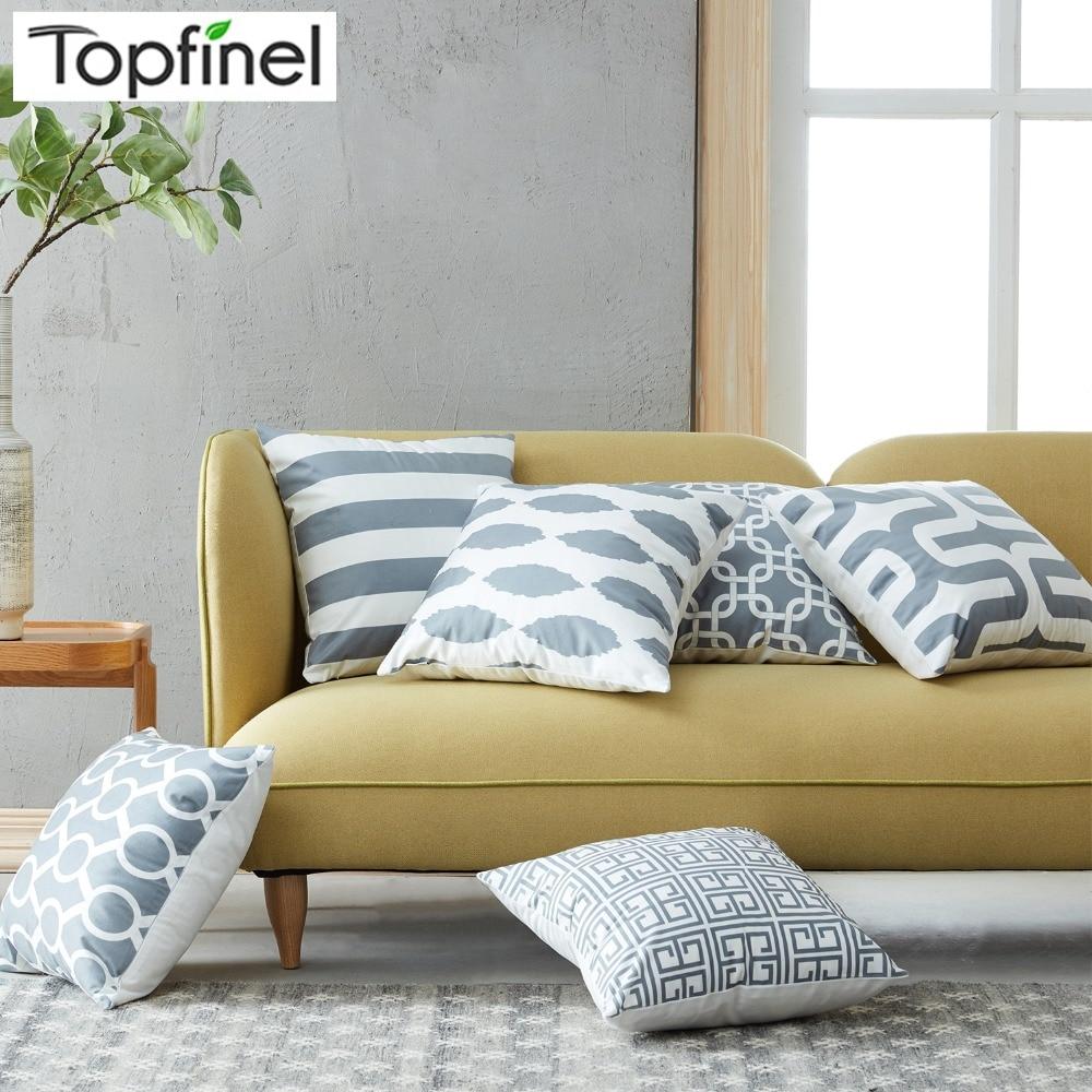 Aliexpresscom  Buy Topfinel Geometric Cushion Cover