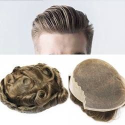 SimBeauty Q6 Base hombres tupé Swiss Lace con piel tupé varios colores Remy cabello humano para hombre postizos de reemplazo pelucas del sistema