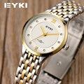 3 cores Da Moda EYKI Marca De Luxo relogio relógios à prova d' água relógio Ocasional das Mulheres as mulheres Se Vestem moda relógio de Strass