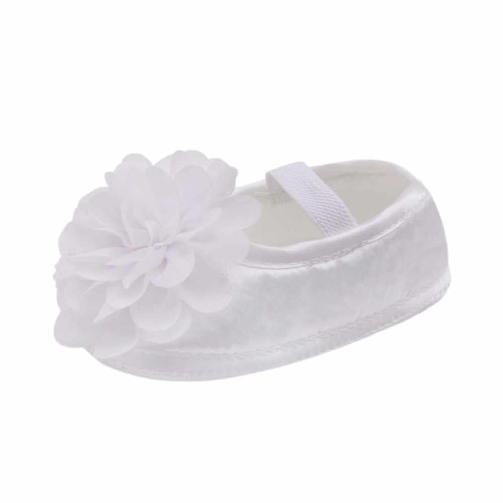 Kids Cute Flora Toddler Baby Girl Chiffon Flower Elastic PrewalkersBand Newborn Walking Shoes Chaussure Fille Drop Shipping