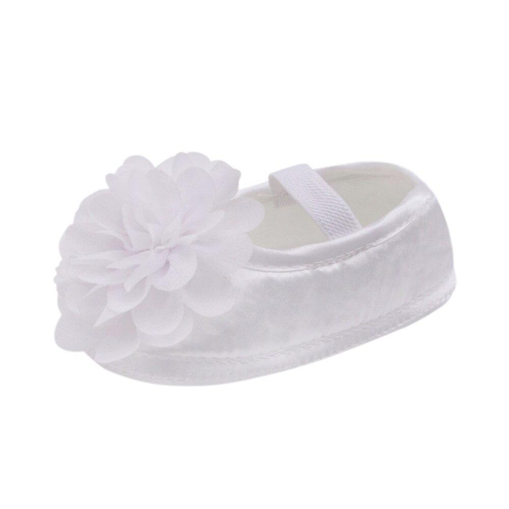 Kids Cute Flora Toddler Baby Girl Chiffon Flower Elastic PrewalkersBand Newborn Walking Shoes Chaussure Fille Drop Shipping