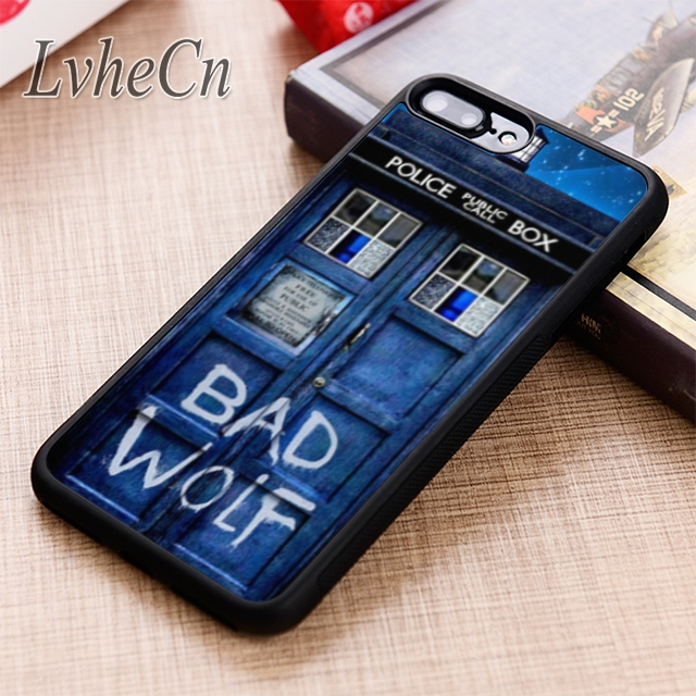 LvheCn Tardis Doctor Dr Who Police Box Bad Wolf phone Case For iPhone 5 6 6s 7 8 plus 11 12 Pro X XR XS max Samsung S7 S8 S9