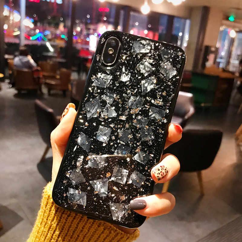 Роскошный Блестящий Прозрачный чехол для iPhone X XS MAX XR Мягкий силиконовый чехол для iPhone 8 7 6 6S Plus блестящий чехол для телефона Coque Capa