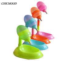 650ml Automatic Pet Dog Puppy Cat Feeder Water Food Dish Dispenser Drinker Fountain Stand Feeder Colorful