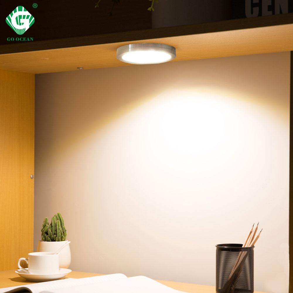 Under Cabinet Lights LED Puck Light Kitchen Round 12V Counter Shelf LED Closet Cupboard Showcase Drawer Wardrobe Indoor Lighting